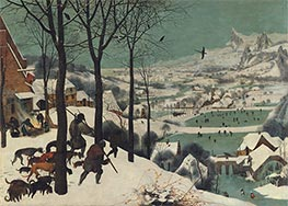 The Hunters in the Snow (Winter), 1565 by Bruegel the Elder | Painting Reproduction