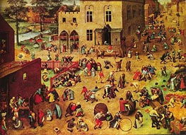 Children's Games | Bruegel the Elder | Gemälde Reproduktion