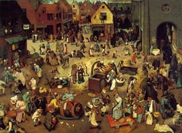 The Fight Between Carnival and Lent | Bruegel the Elder | Gemälde Reproduktion