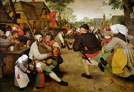 The Peasant Dance, 1568 by Bruegel the Elder | Painting Reproduction
