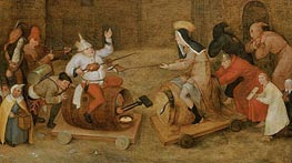 Combat between Carnival and Lent | Bruegel the Elder | Painting Reproduction