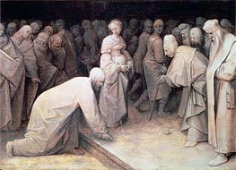 Christ and the Woman taken in Adultery, 1565 by Bruegel the Elder | Painting Reproduction
