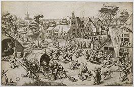 The Fair on St. George's Day | Bruegel the Elder | Gemälde Reproduktion