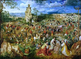The Procession to Calvary, 1564 by Bruegel the Elder | Painting Reproduction