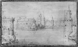 Small Fortified Island, Amsterdam, 1562 by Bruegel the Elder | Painting Reproduction
