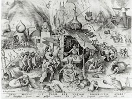 Avarice, from The Seven Deadly Sins, 1558 by Bruegel the Elder | Painting Reproduction