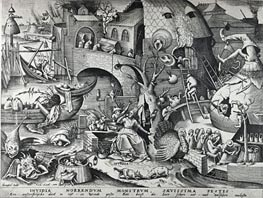 Envy, from The Seven Deadly Sins, 1558 by Bruegel the Elder | Painting Reproduction