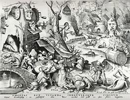 Gluttony, from The Seven Deadly Sins, 1558 by Bruegel the Elder | Painting Reproduction