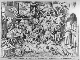 The Fall of the Magical Hermogenes, 1565 by Bruegel the Elder | Painting Reproduction