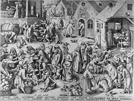 Charity, from The Seven Virtues, 1559 by Bruegel the Elder | Painting Reproduction