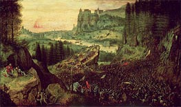 The Suicide of Saul (Selbstmord Sauls), 1562 by Bruegel the Elder | Painting Reproduction