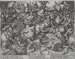 The Fight of the Money-Bags, c.1563 by Bruegel the Elder   Painting Reproduction