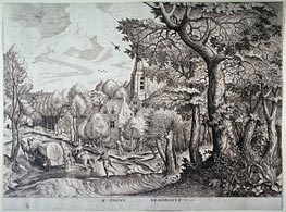 Pagus Nemorosus (Village in the Woods), Undated by Bruegel the Elder   Painting Reproduction
