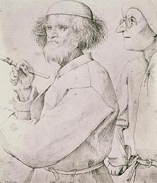 The Painter and the Art Lover, c.1565 by Bruegel the Elder   Painting Reproduction