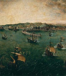 Naval Battle in the Gulf of Naples (Detail), c.1563 by Bruegel the Elder   Painting Reproduction