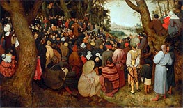 The Sermon of St. John the Baptist, 1566 by Bruegel the Elder | Painting Reproduction