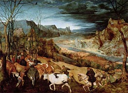 The Return of the Herd (Autumn), 1565 by Bruegel the Elder | Painting Reproduction