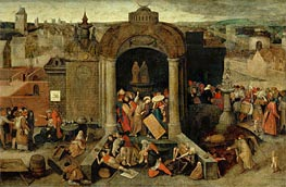 Christ Driving the Traders from the Temple, undated by Bruegel the Elder | Painting Reproduction