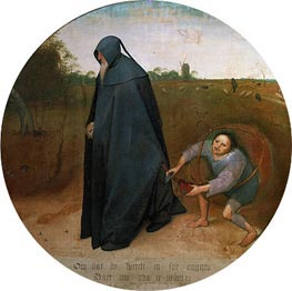 The Misanthrope, 1568 by Bruegel the Elder | Painting Reproduction