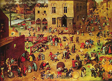 Children's Games, c.1559/60 | Bruegel the Elder | Gemälde Reproduktion