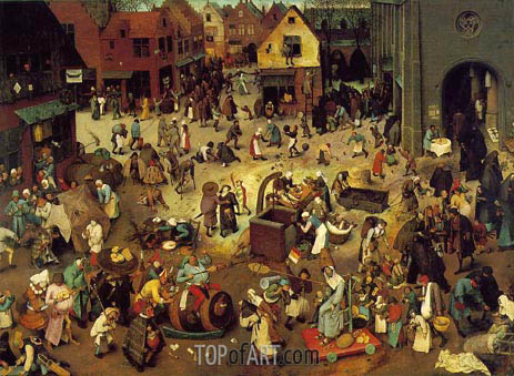 The Fight Between Carnival and Lent, 1559 | Bruegel the Elder| Painting Reproduction