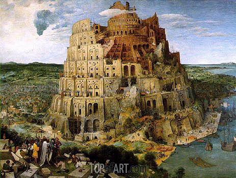 The Tower of Babel, 1563 | Bruegel the Elder| Gemälde Reproduktion