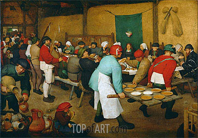Peasant Wedding, c.1568 | Bruegel the Elder | Painting Reproduction