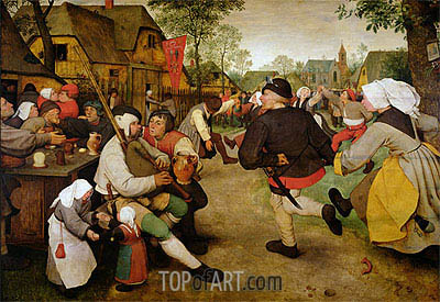 The Peasant Dance, 1568 | Bruegel the Elder| Painting Reproduction