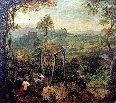 The Magpie on the Gallows, 1568 | Bruegel the Elder | Painting Reproduction