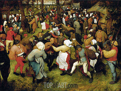 The Wedding Dance, c.1566 | Bruegel the Elder | Gemälde Reproduktion