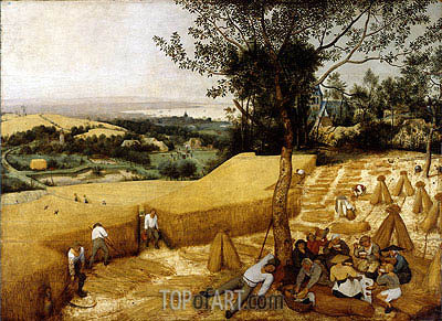 The Harvesters, 1565 | Bruegel the Elder| Gemälde Reproduktion