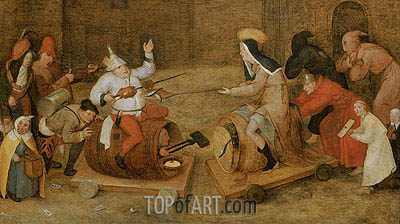 Combat between Carnival and Lent, undated | Bruegel the Elder| Painting Reproduction