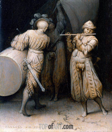 The Three Soldiers, 1568 | Bruegel the Elder| Painting Reproduction