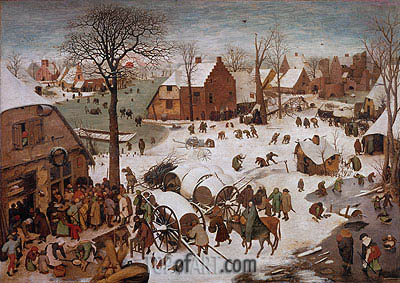 The Census at Bethlehem, undated | Bruegel the Elder | Painting Reproduction