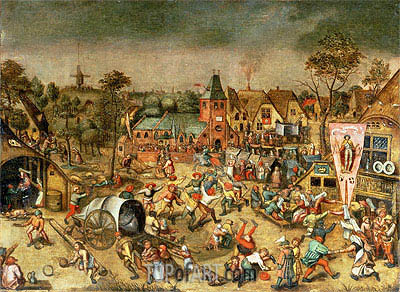 The Kermesse of the Feast of St. George, undated | Bruegel the Elder | Gemälde Reproduktion