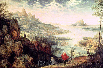 Landscape with the Flight into Egypt, 1563 | Bruegel the Elder| Painting Reproduction