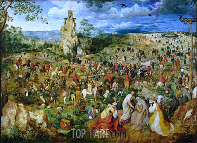 The Procession to Calvary, 1564 | Bruegel the Elder| Painting Reproduction
