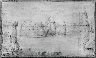 Small Fortified Island, Amsterdam, 1562 | Bruegel the Elder | Painting Reproduction