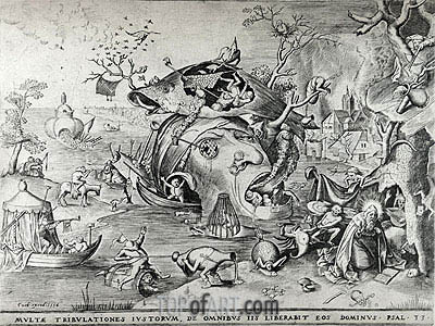 The Temptation of Saint Anthony, 1556 | Bruegel the Elder | Gemälde Reproduktion