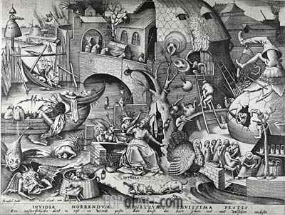 Envy, from The Seven Deadly Sins, 1558 | Bruegel the Elder| Painting Reproduction
