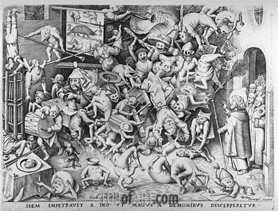 The Fall of the Magical Hermogenes, 1565 | Bruegel the Elder| Painting Reproduction