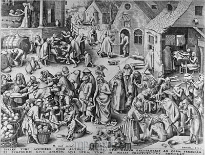 Charity, from The Seven Virtues, 1559 | Bruegel the Elder| Painting Reproduction