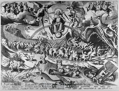 The Last Judgement, 1558 | Bruegel the Elder| Gemälde Reproduktion