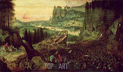 The Suicide of Saul (Selbstmord Sauls), 1562 | Bruegel the Elder | Painting Reproduction