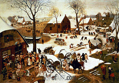 Census at Bethlehem, c.1566 | Bruegel the Elder| Painting Reproduction