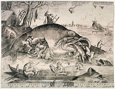 Bruegel the Elder | The Large Fishes Devouring the Small Fishes, 1557