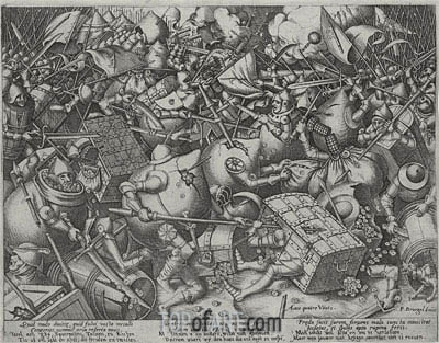 The Fight of the Money-Bags, c.1563 | Bruegel the Elder | Painting Reproduction