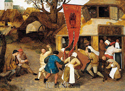 A Village Kermesse, c.1565 | Bruegel the Elder| Painting Reproduction