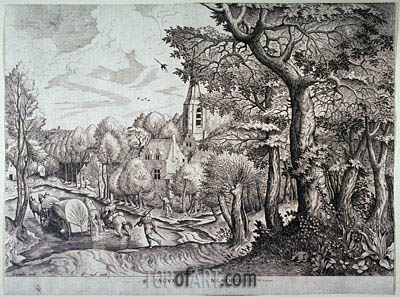 Pagus Nemorosus (Village in the Woods),  | Bruegel the Elder | Painting Reproduction