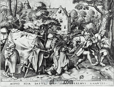 Marriage of Mapsus and Nisa, 1570 | Bruegel the Elder| Gemälde Reproduktion